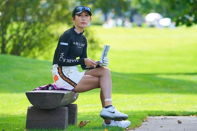 2021年 ニトリレディスゴルフトーナメント 初日 金田久美子 フォトジェニックですなぁ。