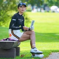 フォトジェニックですなぁ。 2021年 ニトリレディスゴルフトーナメント 初日 金田久美子