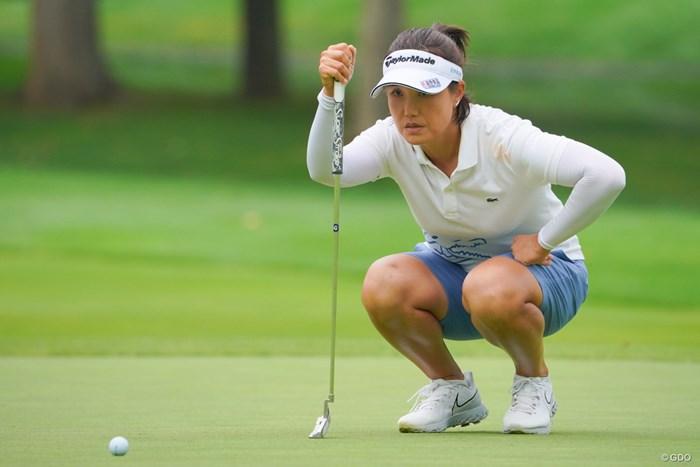 38歳の全美貞が2位に2打差のトップで週末へ 2021年 ニトリレディスゴルフトーナメント 2日目 全美貞