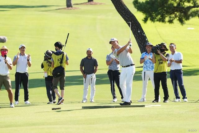 2021年 Sansan KBCオーガスタゴルフトーナメント  3日目 星野陸也 星野陸也は試合後のアプローチコンテストで優勝した