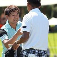 3日目好成績に笑顔を見せる 2021年 Sansan KBCオーガスタゴルフトーナメント 3日目 石坂友宏