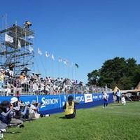 18番グリーン奥からアプローチ 2021年 Sansan KBCオーガスタゴルフトーナメント 3日目 池田勇太