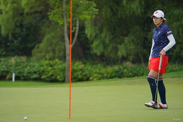 2021年 ニトリレディスゴルフトーナメント 最終日 堀琴音 惜しいパットが何度も何度も。