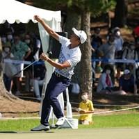 バーディパットを外しずっこける 2021年 Sansan KBCオーガスタゴルフトーナメント 最終日 重永亜斗夢