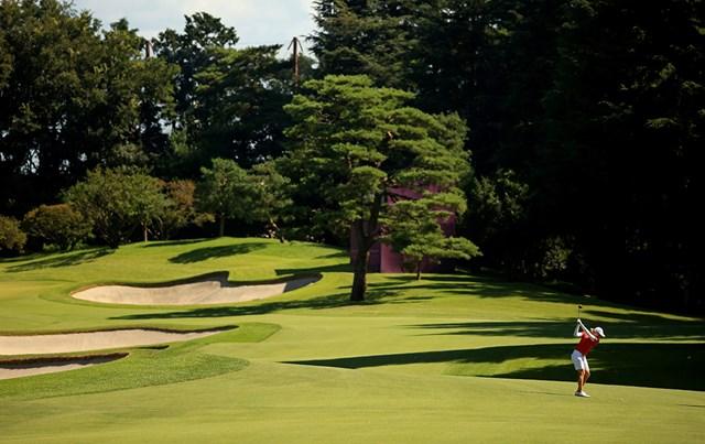 2021年 東京五輪 最終日 霞ヶ関カンツリー倶楽部 東京五輪ではコースの木々も良いアクセントに (Mike Ehrmann/Getty Images)