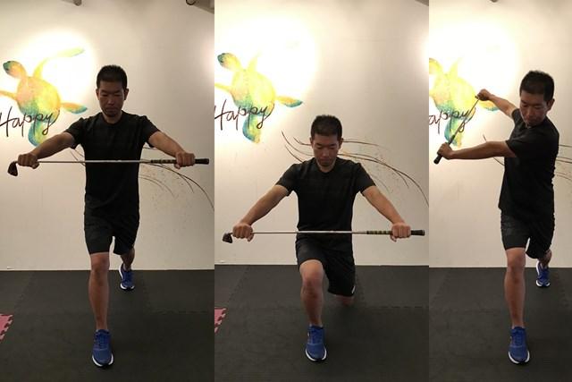 ストレッチ1 上半身と足の運動です