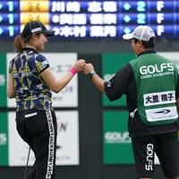 単独トップに躍り出る 2021年 ゴルフ5レディス プロゴルフトーナメント 初日 大里桃子