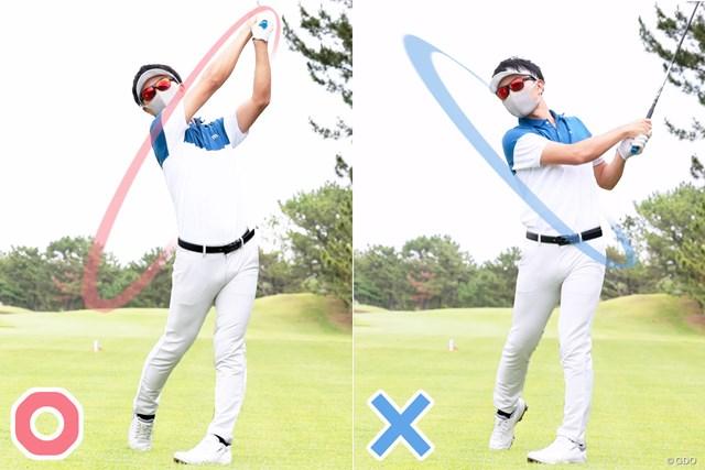 左手の甲は折れていないか? 見るだけでスライスが防げる60秒間 疲労してくると手が下(画像右)になる人も多いのでは