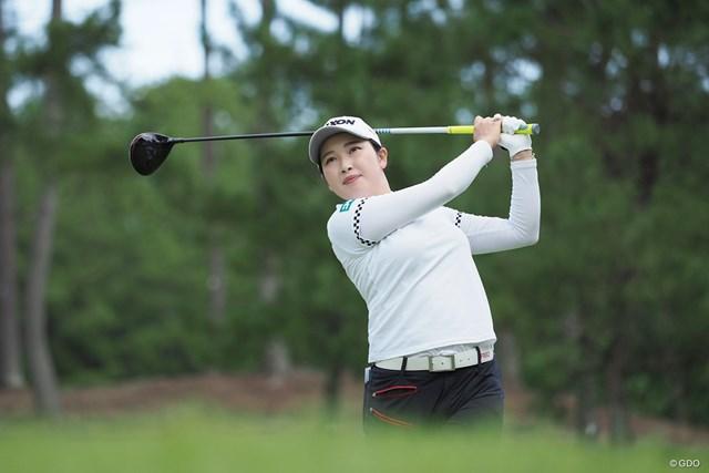 2021年 日本女子プロゴルフ選手権大会コニカミノルタ杯 事前 小祝さくら ショットに不安も…表情は穏やかだ