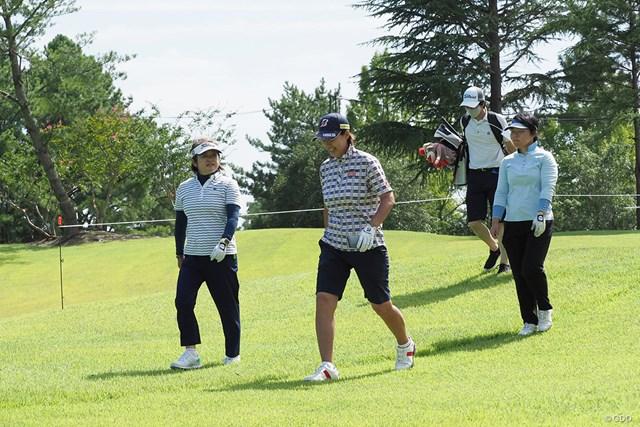 2021年 日本女子プロゴルフ選手権大会コニカミノルタ杯 事前 レジェンドたち 原田香里、鬼澤信子、不動裕理の重鎮たちによる練習ラウンド