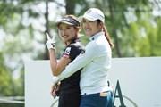 2021年 日本女子プロゴルフ選手権大会コニカミノルタ杯 事前 稲見萌寧と臼井麗香