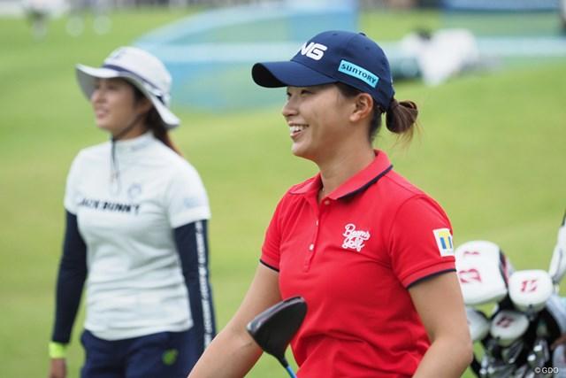 2021年 日本女子プロゴルフ選手権大会コニカミノルタ杯  事前 渋野日向子 大里桃子との練習ラウンド