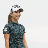 ちょっと微妙だった(?)ショットのリアクション 2021年 日本女子プロゴルフ選手権大会コニカミノルタ杯 事前 上田桃子