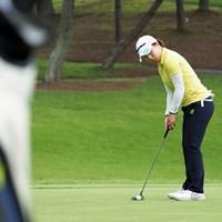 「1年経つのはあっという間」と振り返るディフェンディングチャンピオン 2021年 日本女子プロゴルフ選手権大会コニカミノルタ杯 事前 永峰咲希
