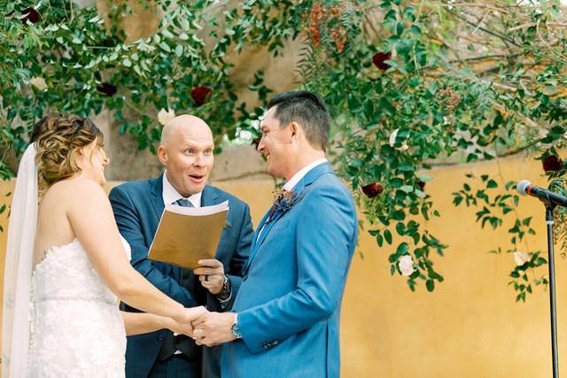 2021年 ジョエル・ダーメン ダーメンとローナ夫人の結婚式。司会はキャディが務めた(提供:ジョエル・ダーメン)