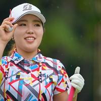 優勝候補の筆頭と思ってたのですが、大きく出遅れてしまいました。 2021年 日本女子プロゴルフ選手権大会コニカミノルタ杯 初日 古江彩佳