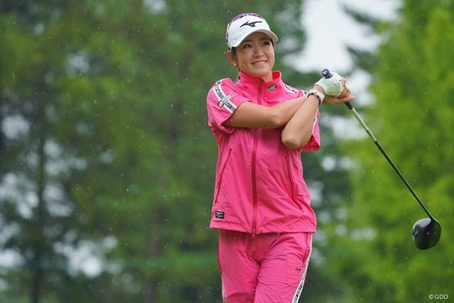 2021年 日本女子プロゴルフ選手権大会コニカミノルタ杯 初日 原英莉花 さすがに隔離明けで調整不足か。
