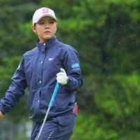 前週のチャンピオン、まだ今週はエンジン掛かってないか。 2021年 日本女子プロゴルフ選手権大会コニカミノルタ杯 初日 吉田優利