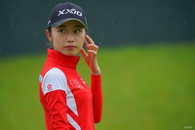 2021年 日本女子プロゴルフ選手権大会コニカミノルタ杯 初日 安田祐香 久々の好スタートにカメラマン達も鼻息荒めです。