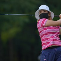 是非、上位進出の際はマスクを外して頂けると助かります。 2021年 日本女子プロゴルフ選手権大会コニカミノルタ杯 初日 大城さつき
