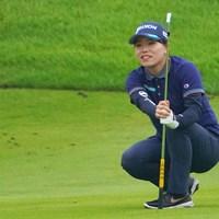 ダメ、止まって! 2021年 日本女子プロゴルフ選手権大会コニカミノルタ杯 初日 勝みなみ