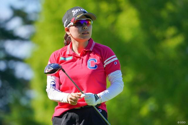 2021年 日本女子プロゴルフ選手権大会コニカミノルタ杯 2日目 勝みなみ 勝みなみが単独首位を守った