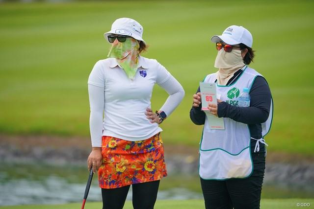 2021年 日本女子プロゴルフ選手権大会コニカミノルタ杯 2日目 大城さつき 替え玉しても誰も気付かないな。