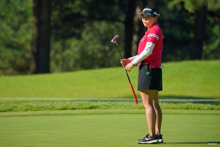今日はパッティングがイマイチだったか。 2021年 日本女子プロゴルフ選手権大会コニカミノルタ杯 2日目 勝みなみ