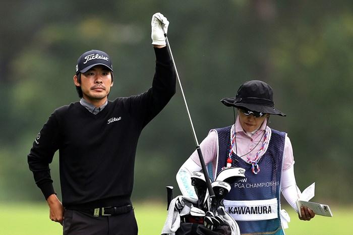 川村昌弘は首位と4打差で週末へ。試合中にサングラスをしていないのは珍しい!?(Richard Heathcote/Getty Images) 2021年 BMW PGA選手権 2日目 川村昌弘