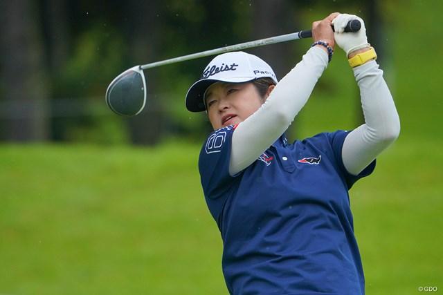 2021年 日本女子プロゴルフ選手権大会コニカミノルタ杯 2日目 原田香里 歴代優勝者の原田香里が10年ぶりにレギュラー参戦
