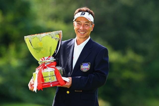 2021年 コマツオープン2021 最終日 井戸木鴻樹 井戸木鴻樹が勝負強さを見せた。ツアー3勝目をあげた(※日本プロゴルフ協会提供)