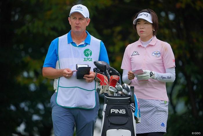 ナイスコンビです。 2021年 日本女子プロゴルフ選手権大会コニカミノルタ杯 3日目 大山志保