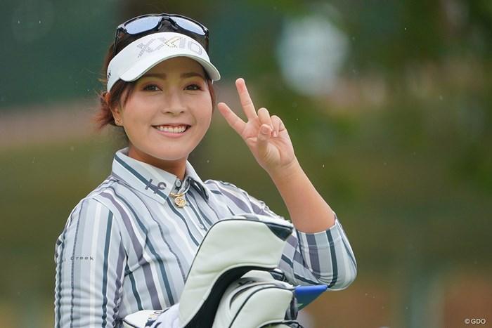 朝イチでコレですよ。そりゃもうオジサンだって仕事がんばりますよ。 2021年 日本女子プロゴルフ選手権大会コニカミノルタ杯 3日目 青木瀬令奈
