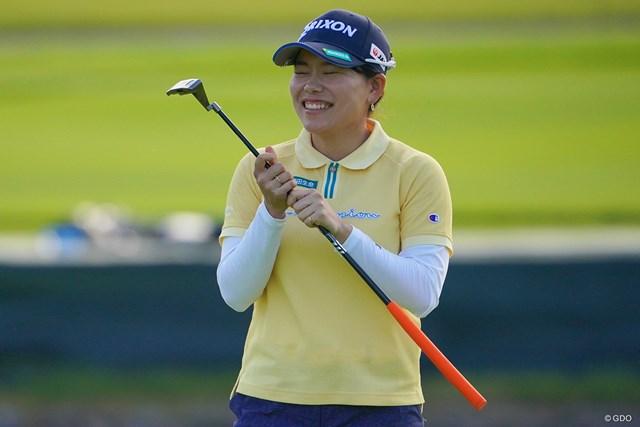 2021年 日本女子プロゴルフ選手権大会コニカミノルタ杯 3日目 勝みなみ ホールアウト後の表情。悔しい!!喜怒哀楽を出してくれる選手は撮ってて楽しいですね。