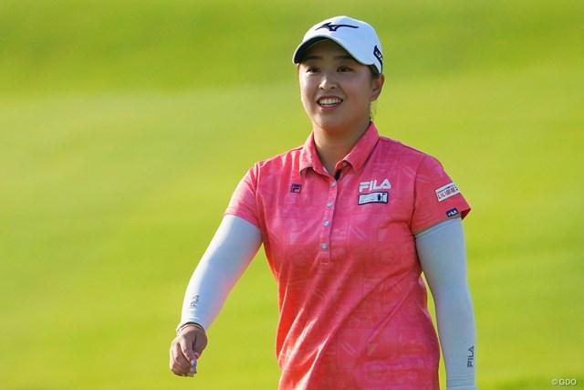 2021年 日本女子プロゴルフ選手権大会コニカミノルタ杯 3日目 西郷真央 西郷真央は安定感が光る。38ホール、ノーボギーを継続中
