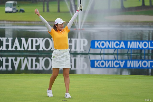 2021年 日本女子プロゴルフ選手権大会コニカミノルタ杯  最終日 稲見萌寧 メジャー初制覇を果たした稲見。また獲得した複数年シードはどう使える?