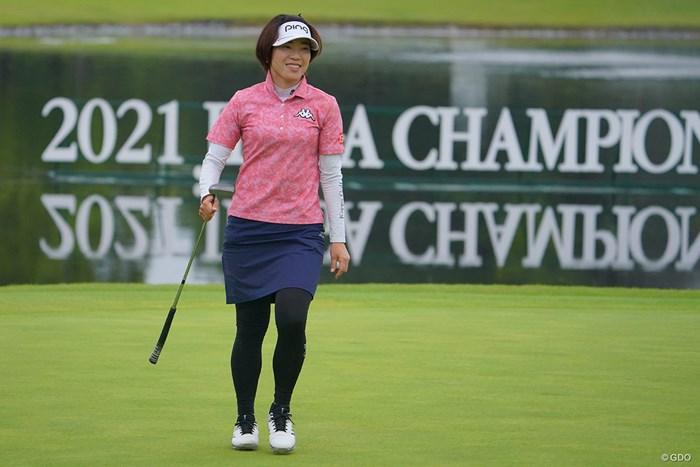 ホールアウト後、やり切った感の大山さんの表情でしたね。 2021年 日本女子プロゴルフ選手権大会コニカミノルタ杯 最終日 大山志保