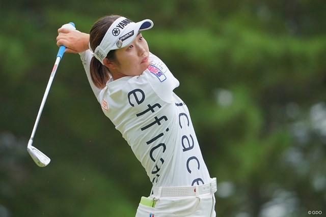 2021年 日本女子プロゴルフ選手権大会コニカミノルタ杯 最終日 植竹希望 インパクト音が分厚いんですよね。