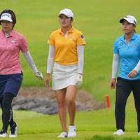 見応えあった最終組の3人。 2021年 日本女子プロゴルフ選手権大会コニカミノルタ杯 最終日 最終組