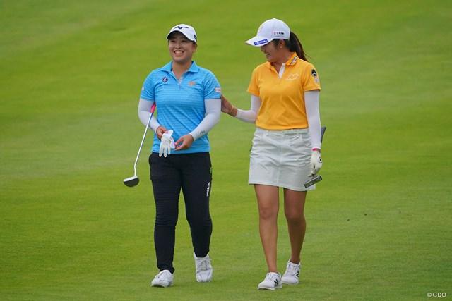 2021年 日本女子プロゴルフ選手権大会コニカミノルタ杯  最終日 西郷真央 ラウンド中に笑顔も見せた西郷真央は悔しい2位