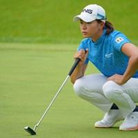 最終日は「パットで台無しに…」と悔しがった 2021年 日本女子プロゴルフ選手権大会コニカミノルタ杯 最終日 渋野日向子