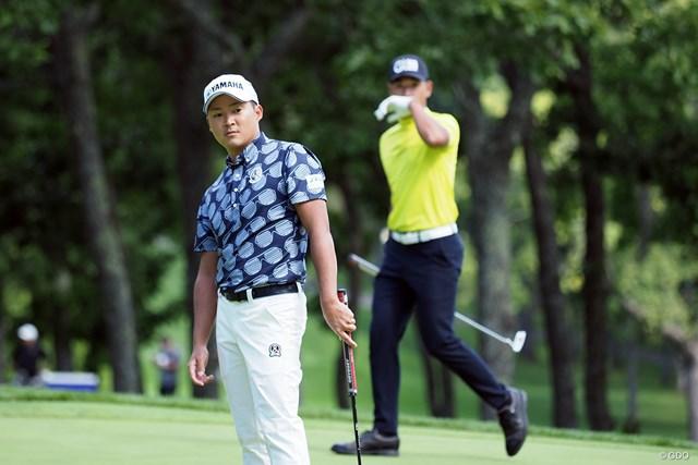 2021年 ANAオープンゴルフトーナメント 事前 今平周吾 池上憲士郎 富士桜で優勝を争った同学年の池上憲士郎と練習ラウンド