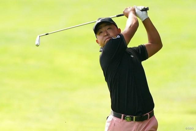 2021年 ANAオープンゴルフトーナメント 初日 時松隆光 選手会長の時松隆光。大会初優勝を目指す