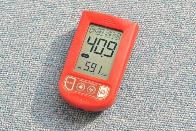 手軽にヘッドスピードが計測できる「プロギア レッドアイズ ポケット」を試打レポート