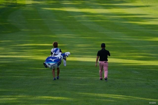 2021年 ANAオープンゴルフトーナメント 初日 時松隆光 朝の光線はきれいだったけど