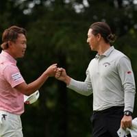 初日お疲れさん 2021年 ANAオープンゴルフトーナメント 初日 石川遼と木下稜介