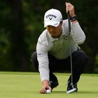 ボールはキャロウェイのライン入り 2021年 ANAオープンゴルフトーナメント 初日 石川遼