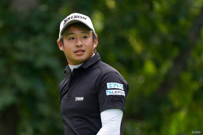 北海道江別市出身の23歳、片岡尚之 2021年 ANAオープンゴルフトーナメント 2日目 片岡尚之