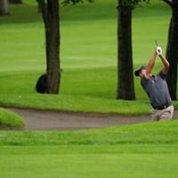 バンカーショットはグリーン右サイド 2021年 ANAオープンゴルフトーナメント 3日目 時松隆光