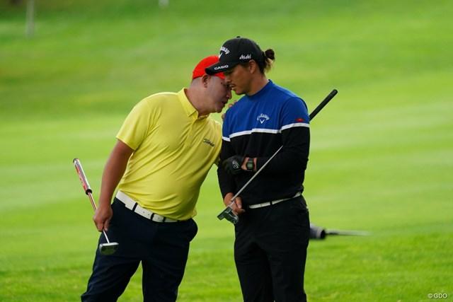 2021年 ANAオープンゴルフトーナメント 3日目 石川遼 A.キュー ナイショの話
